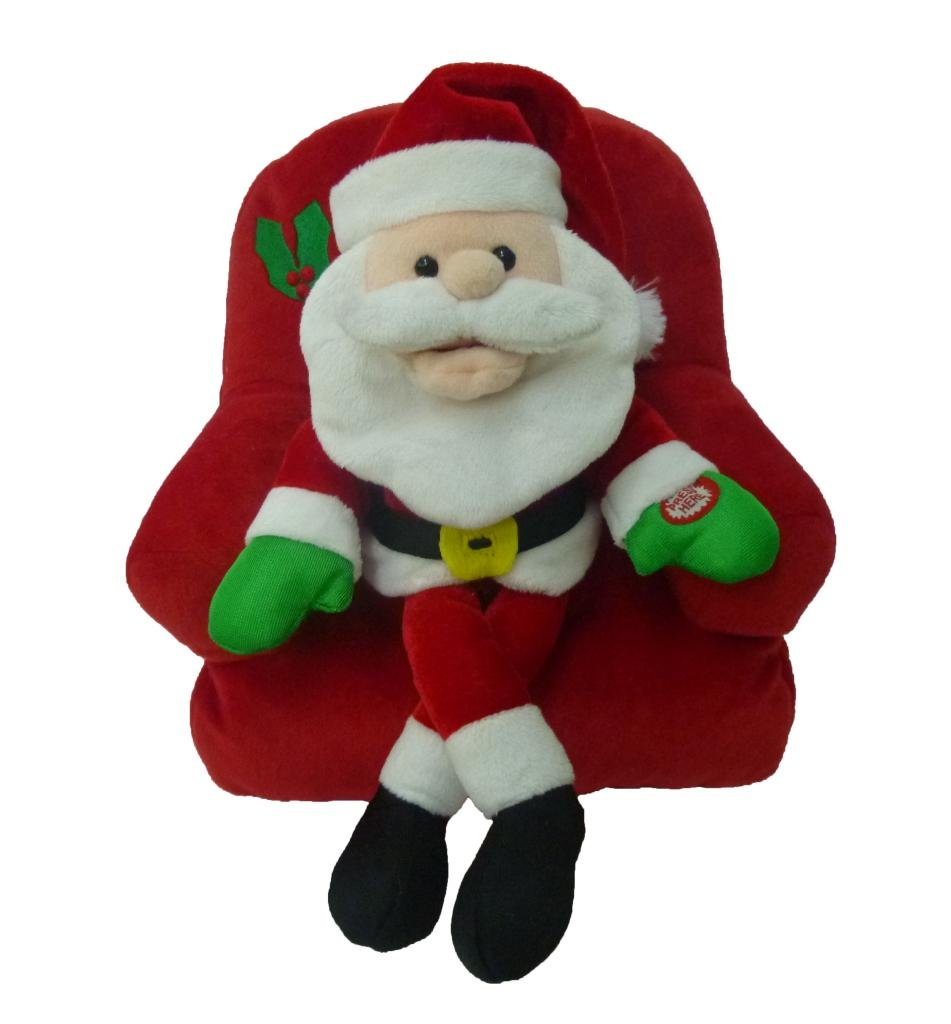 BZB Goods Singing Santa Claus on Sofa Polyester Musical Animatronic Plush Toy Christmas Collectible