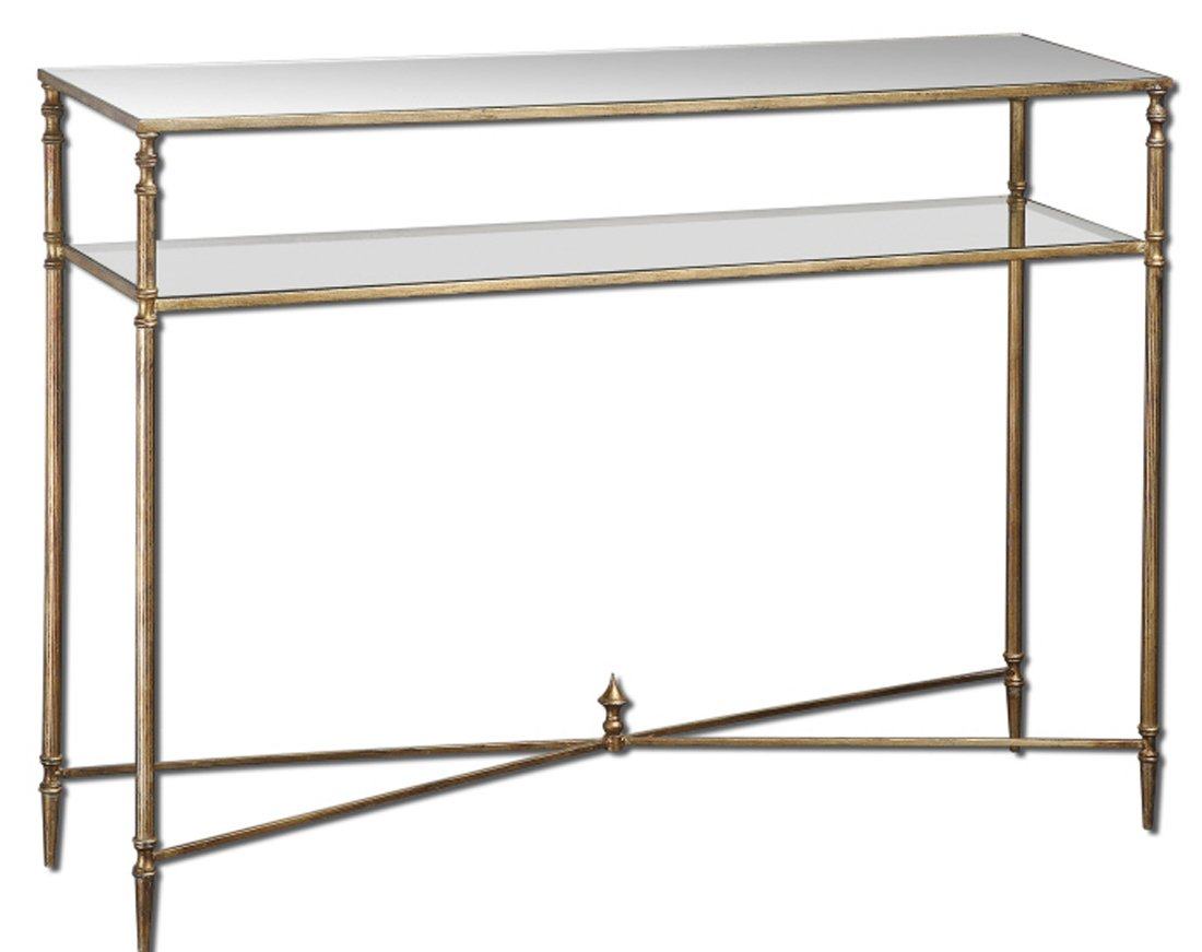 Amazon.com: Contempoary BARSTOW Console Table Glass Iron MINIMALIST:  Kitchen U0026 Dining