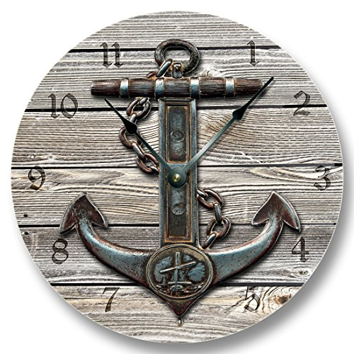 Anchor Weathered Boards wall CLOCK product image