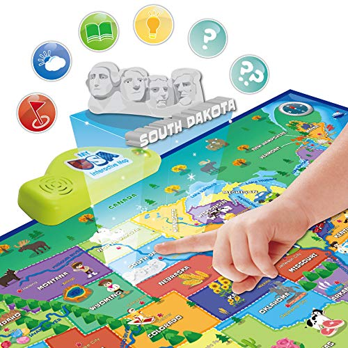 BEST LEARNING i-Poster My USA Interactive Map - Educational Talking Toy for Boys and Girls Ages 5 to 12 Years Old - Ideal Gift for Kids by BEST LEARNING (Image #4)
