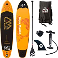 Aquamarina Fusion SUP Stand Up Paddle Board with Paddle, Leash, Magic Back Pack and Double Action Pump