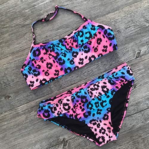 Tddler Little Girl Swimwear Sling Swimsuit Outfit Leopard Bikini Tankini Beachwear (7/8, Multicolor) by Hometom Baby Swimsuit (Image #4)