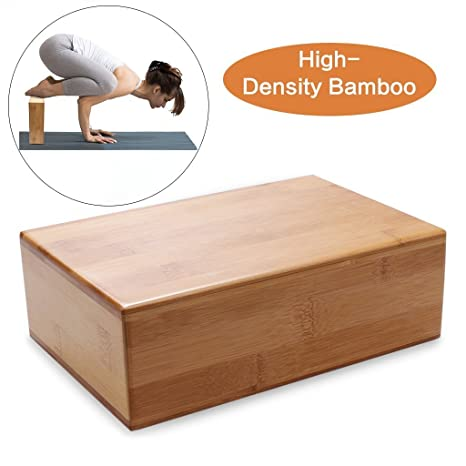 Bloque para yoga, bloque de madera de bambú para yoga ...