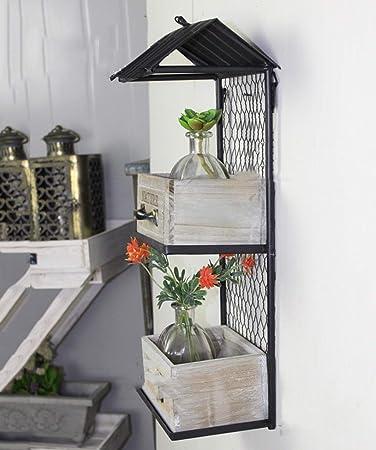 Afanyu Afanyu Colgante de pared de madera Soporte de flor Caja de flor decorativa Decoraciones de pared Inicio Balcón Jardinería Miscelánea Estantes: Amazon.es: Bricolaje y herramientas