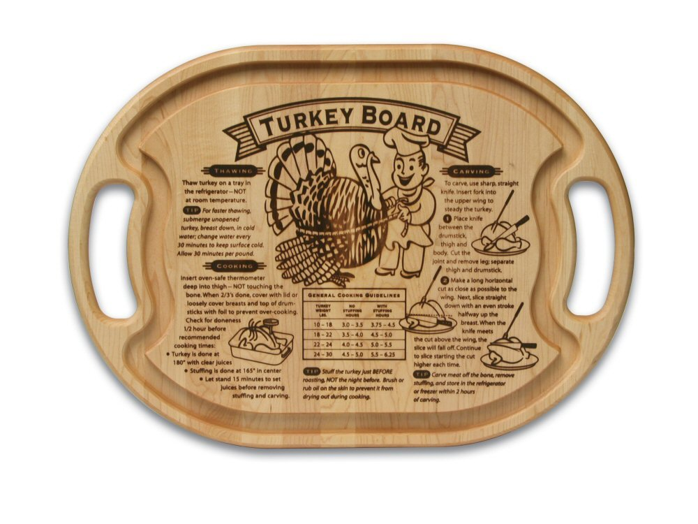 Snow River Grande Epicure M8009005 15-Inch by 21-Inch Maple Turkey Carving Board with Juice Well and Handles