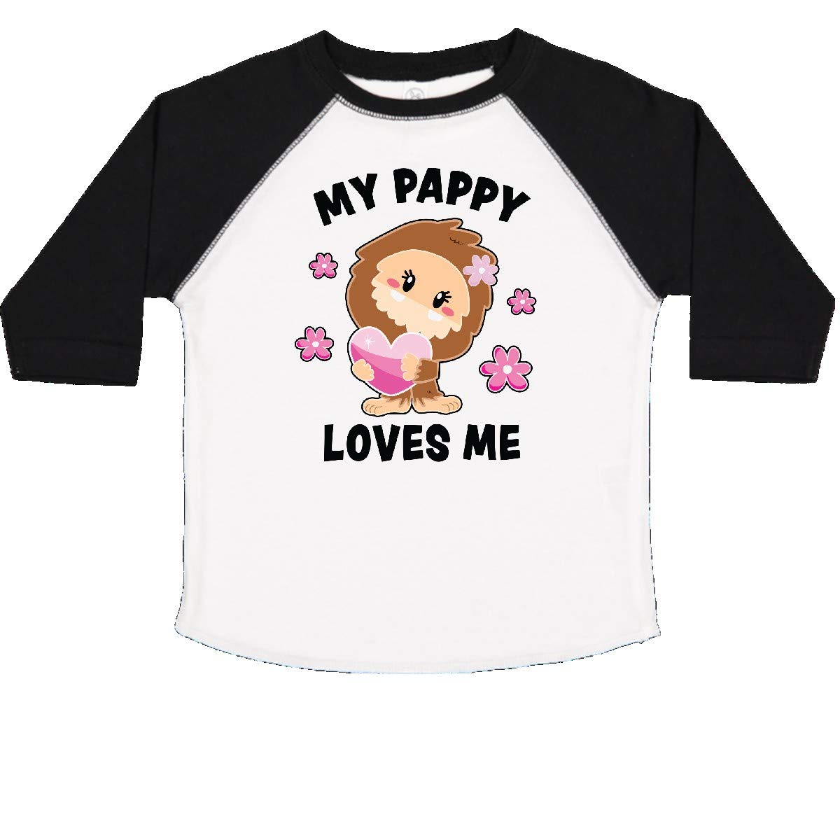 inktastic My Pappy Loves Me with Bigfoot Toddler T-Shirt