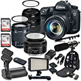 zoom h1 accesories - Canon EOS 7D Mark II 20.2MP CMOS Digital SLR Camera with Canon EF-S 18-55mm f/3.5-5.6 IS STM Lens + Tamron AF 70-300mm f/4-5.6 Lens + Canon EF 50mm f/1.8 STM Lens