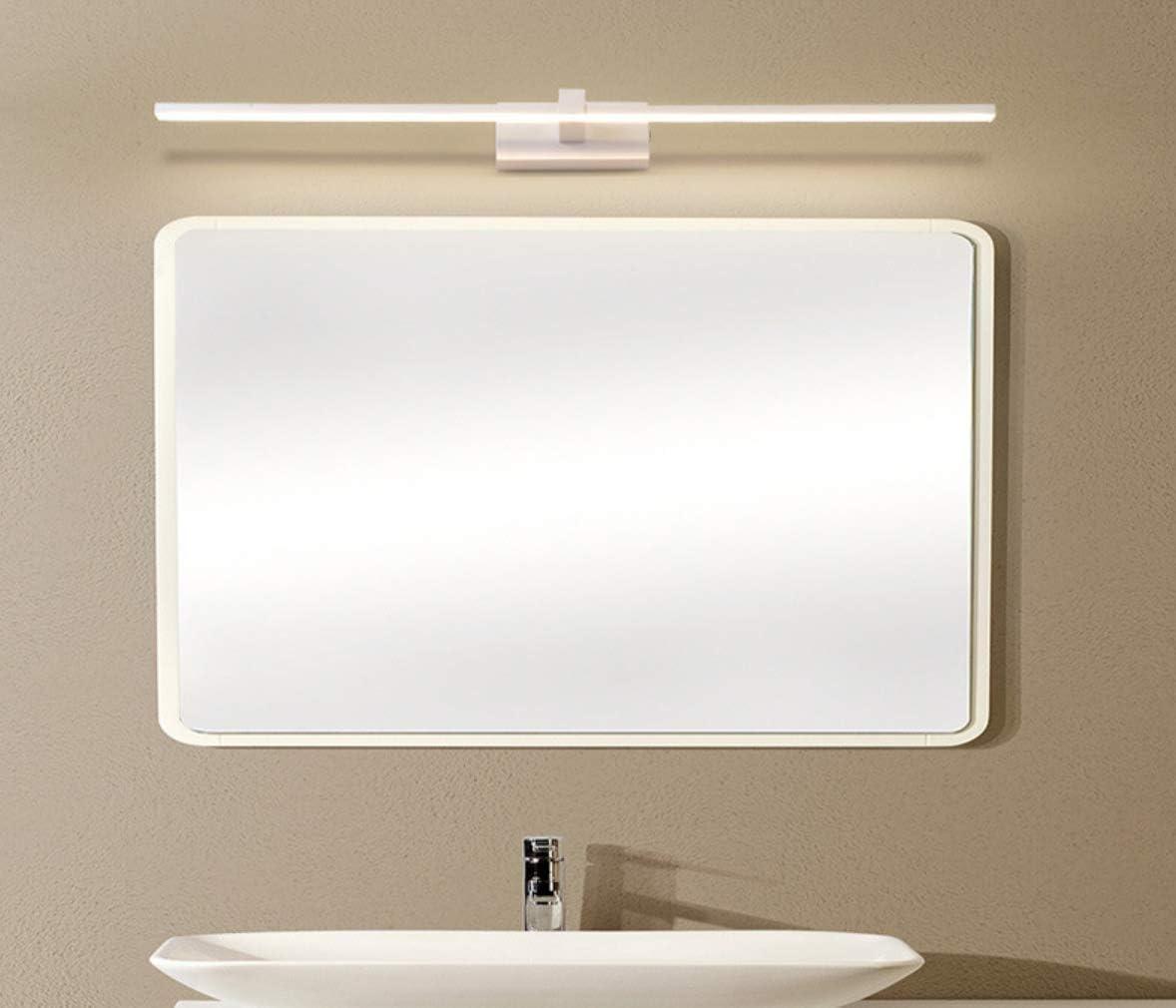 WIVION Lampada da Bagno a LED, Lampada da Specchio Applique da Bagno a LED 6000K Luce Bianca per apparecchi a Parete per mobili da Trucco a Specchio,16w/80cm 10w/50cm
