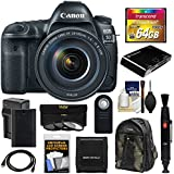 Canon EOS 5D Mark IV 4K Wi-Fi Digital SLR Camera & EF 24-105mm f/4L IS II USM Lens with 64GB Card + Battery & Charger + Backpack + 3 Filters + Kit