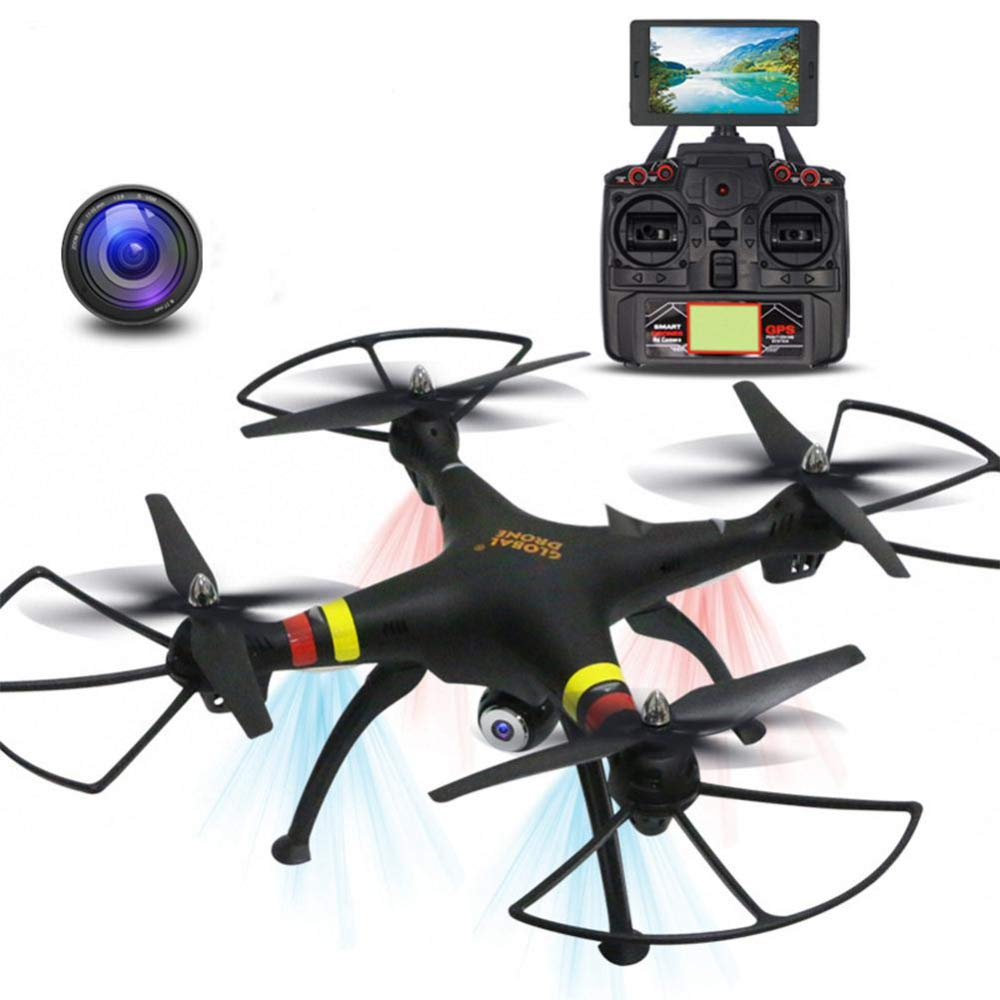 GW180 FPV RC Drone mit Camera Live Video und GPS-Quadcopter mit Adjustable Wide-Angle 4K HD WiFi Camera-Follow Me, Altitude Hold