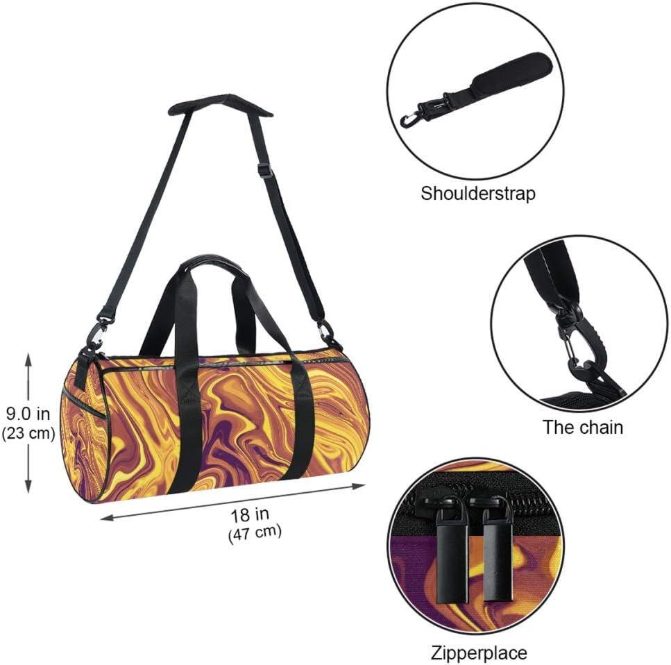 Sport Duffel Bag Wavy Brown Gym Bag Kids Travel Bag Weekend Bag