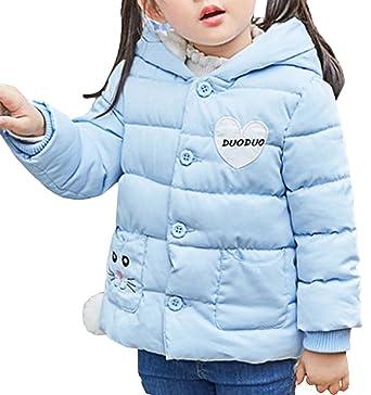 ab4b87501cbb Bevalsa Kinder Mädchen Winterjacke mit Kapuze Jacket Wintermantel Mantel  Parka Oberbekleidung Winter