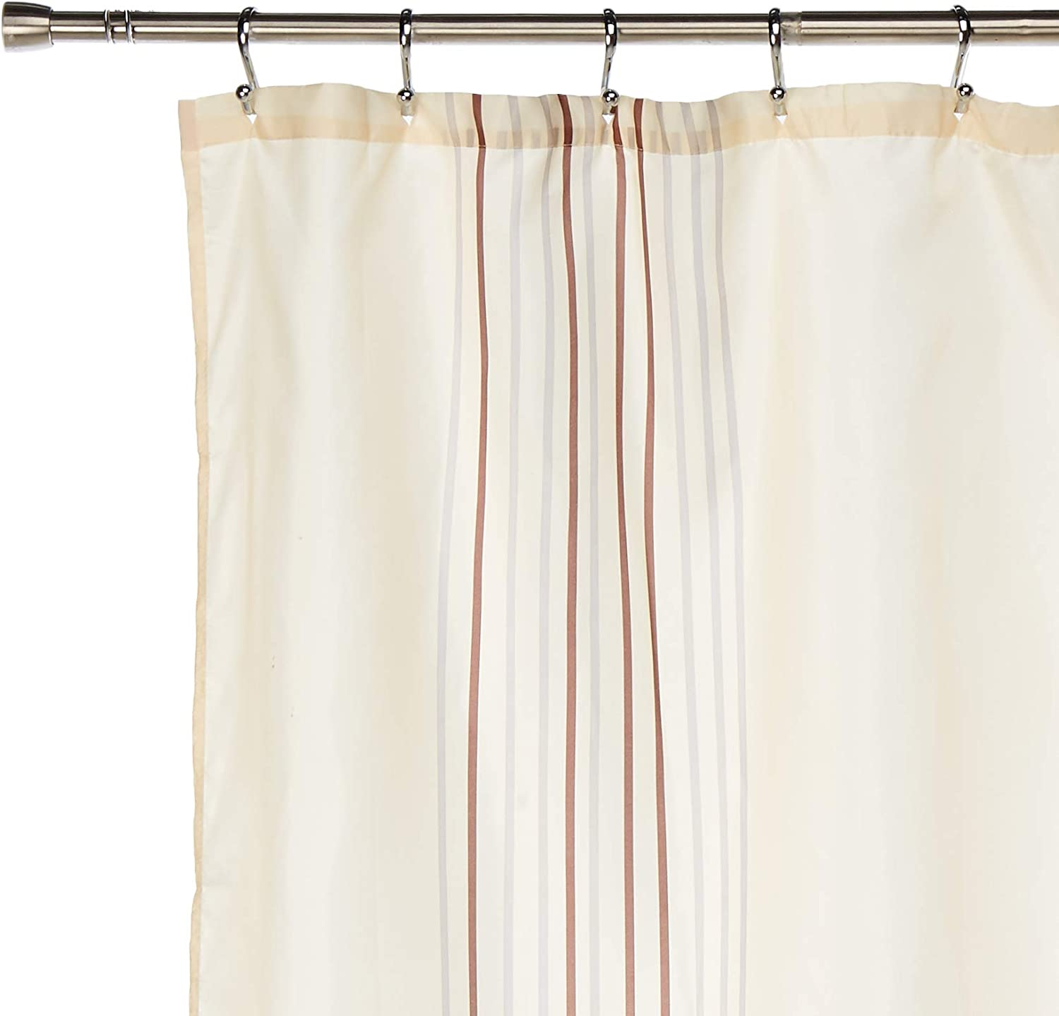 Standard Carnation Home Fashions 100-Percent Polyester Fabric Print 70 by 72-Inch Shower Curtain Isabella Multi Color