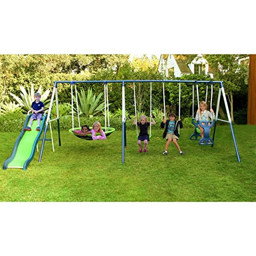 Sportspower Rosemead Metal Swing and Slide Set by Sportspower Limited