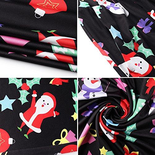 Delle Natale Di Maxi Changxin 1200 Vestito Stampa Natale Lungo Babbo Donne Casuale fqRp7f