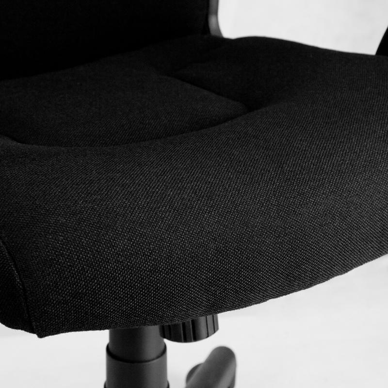 Black Fabric Contoured SeatAmazon com  Flash Furniture Mid Back Black Fabric Executive Swivel  . Fabric Computer Chair. Home Design Ideas