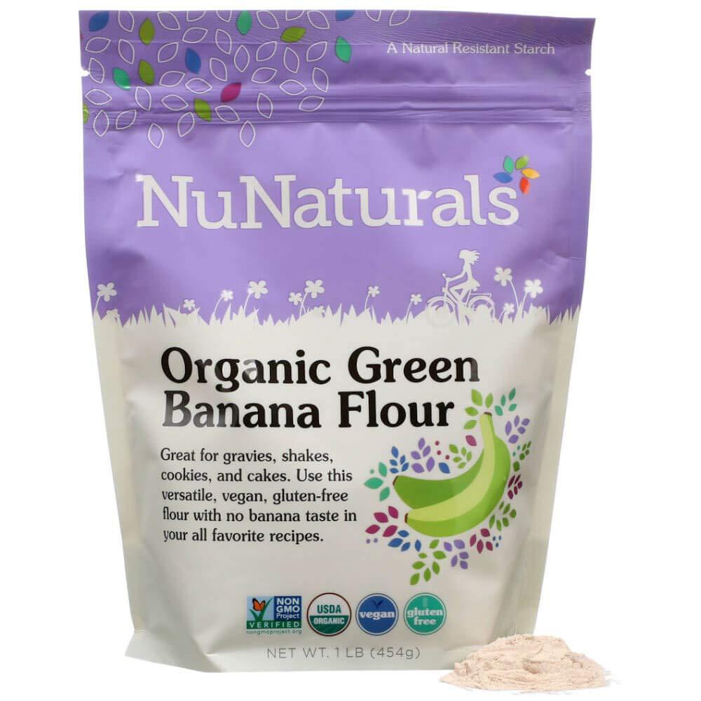 NuNaturals - Organic – Green Banana Flour - Gluten Free and Vegan - 1 lb