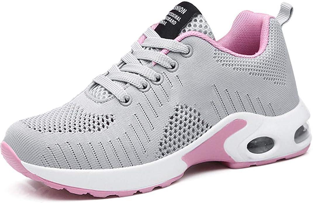 GAXmi Zapatillas Deportivas de Mujer Air Cordones Zapatos de Ligero Running Fitness Zapatillas de para Correr Antideslizantes Amortiguación Sneakers: Amazon.es: Zapatos y complementos