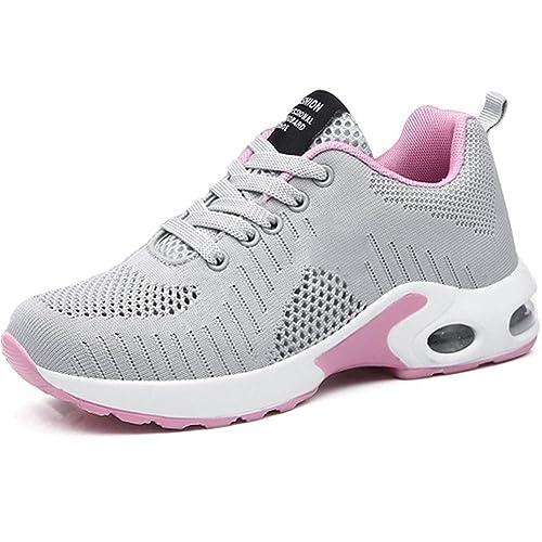 Zapatillas Deportivas de Mujer Air Cordones Zapatos de Ligero ...