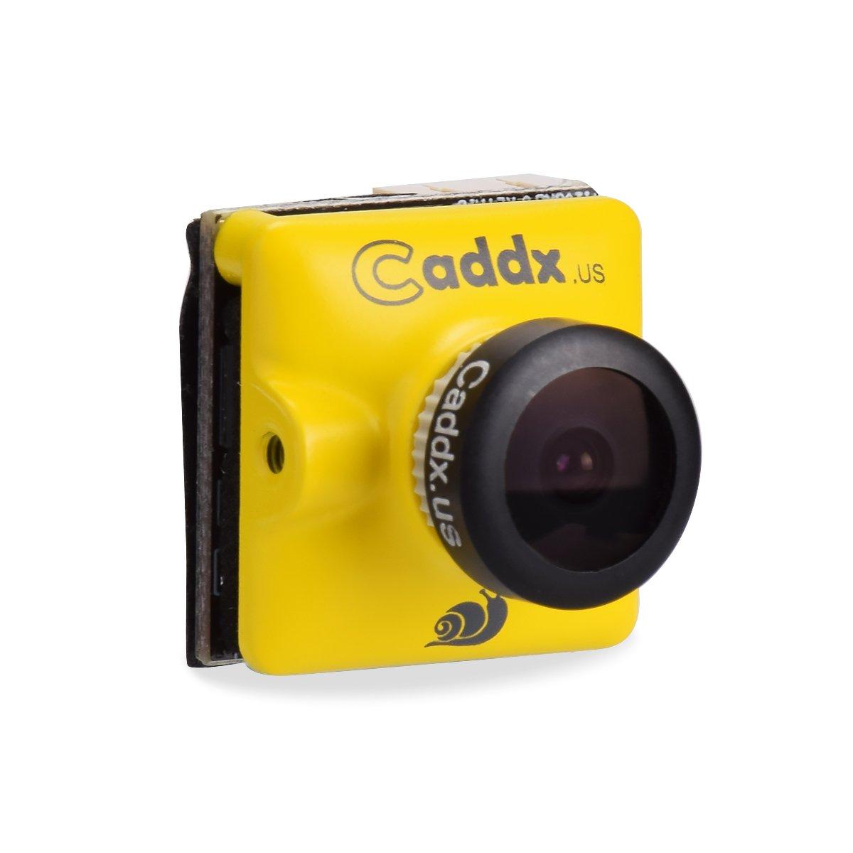 FPV Camera Caddx Turbo Micro F2 1200TVL 2.1mm Cam 1/3'' CMOS 16:9 NTSC PAL Switchable 2.1mm IR Blocked Yellow for FPV Racing Drone