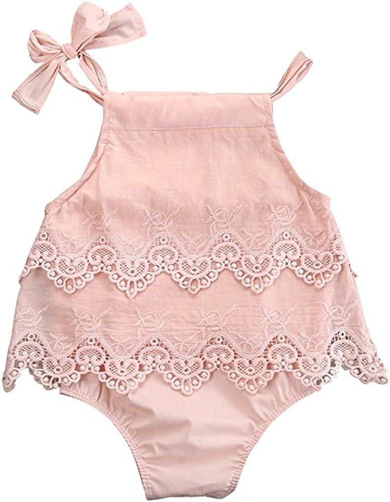 Newborn Baby Girls Infant Romper Jumpsuit Bodysuit Tutu Dress Clothes Outfits