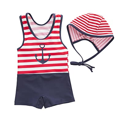 d9d1c87c99 May's Kids Boys Onepiece Sun Protection Swimwear Swimming Bathing 2 Pieces  Sets