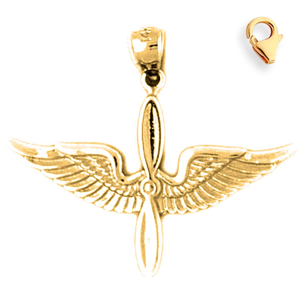 25mm Silver Yellow Plated Us Air Force Charm