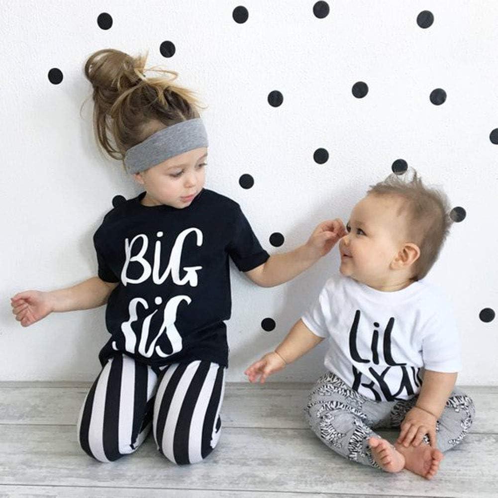 Tee Tops Toddler Little bro Shirt Sister Brother Family Matching Announcement Shirt Big Sister Shirt