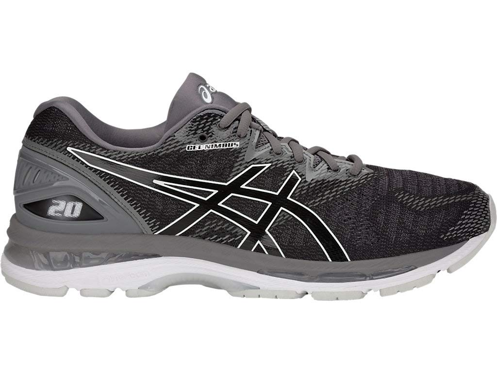 ASICS Men's Gel-Nimbus 20 Running Shoes, 11M, Black/Carbon by ASICS