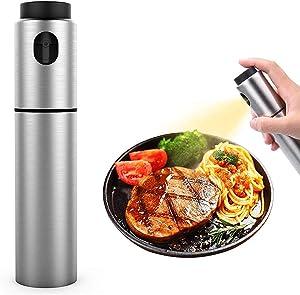 Emual Olive Oil Dispenser Stainlness Steel Oil Sprayer Vinegar Bottle for Cooking Food-Grade Oil Sprayer Misters Air Fryer,Salad,BBQ,Frying,Baking