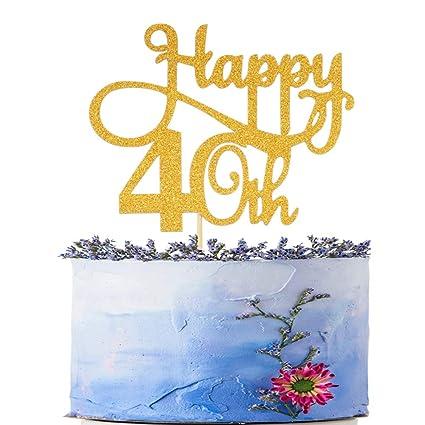 Amazon Com Happy 40th Birthday Cake Topper Cheers To 40 Years