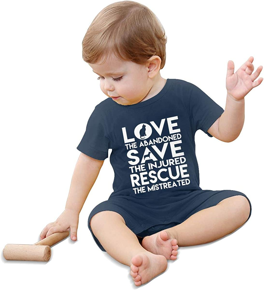 Baby Girl Short Sleeved Coveralls Dog Rescue Animal Cat Rescue Toddler Jumpsuit