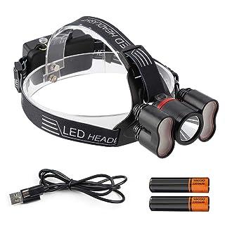Riuty Lámpara de Camping, 2000LM Nueva Luz de Inducción Faros USB Recargable Fuerte Faros Familia Noche Pesca Lámpara Que acampa para Acampar al Aire Libre Senderismo Escalada
