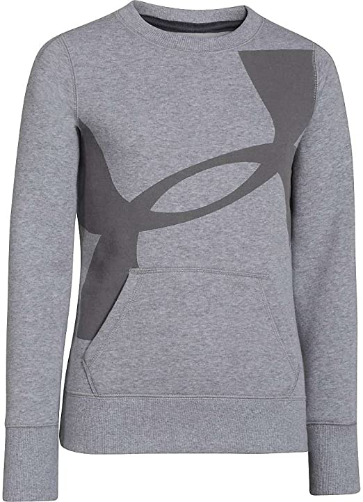 Under Armour Girls Rival Cotton Crew