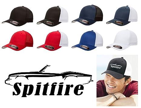 Triumph Spitfire Sports Car Classic Outline Design Flexfit Trucker Trucker  Hat Cap Black 303e08c4f63