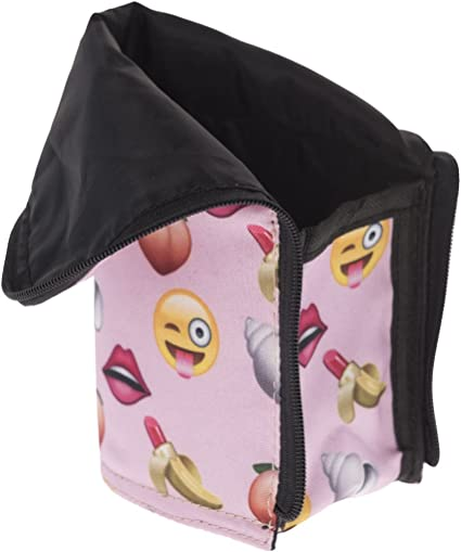 Estuche escolar milan lapices boligrafos alargado Caja de lápiz multifuncional rígida con cierre de cremallera Tropical Flamingo Banana Lipstick Emoji [047]: Amazon.es: Oficina y papelería