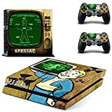 CloudSmart Fallout 4 For Sony Playstation 4 PS4 Skin Sticker Vinyl Stickers for PS4 Console x1 Controller Skins x2 - S.P.E.C.I.A.L. TV Television