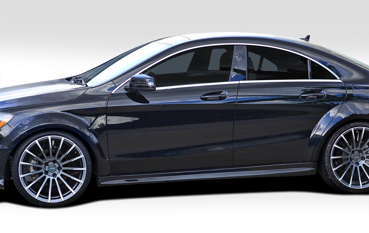Duraflex Replacement for 2014-2015 Mercedes CLA Class Black Series Look Wide Body Side Skirt Rocker Panels -2 Piece