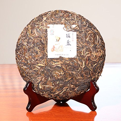 Pu erh tea 2014 Chinese tea Five-star Banpen tree old tree round tea Pu'er tea 357g/cake puerh tea puer tea 普洱茶 2014年中茶 五星班盆乔木老树圆茶 普洱生茶 357克/饼 by 中茶 (Image #1)
