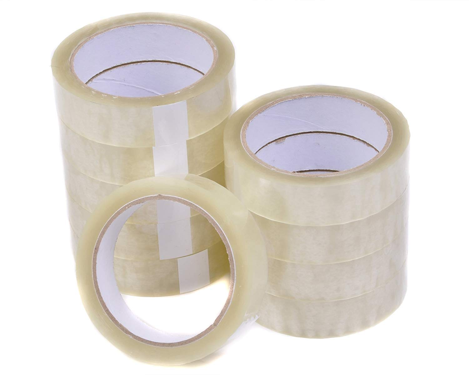 "CLEAR PACKING TAPE CELLOTAPE SELLOTAPE 25MM 1/"" X 66M"