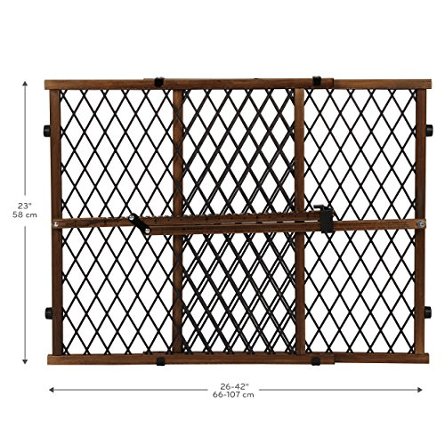 Evenflo Position and Lock Farmhouse Pressure Mount Gate, Dark Wood by Evenflo (Image #2)
