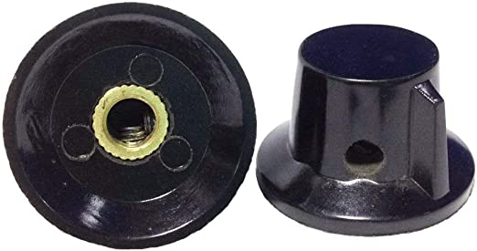 20pcs Blue Indication 6mm Shaft Hole Knurled Grip Potentiometer Pot Knobs Cap YH