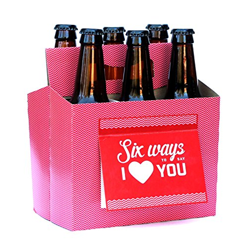 BEER Valentines Day Gifts for Him or Her - Six Pack Greeting Card Box (Set of 4) - Perfect Paper Anniversary Gifts for Him, Craft Beer Gifts for Men, Women, Boyfriend, Man Gifts, Beer Lovers