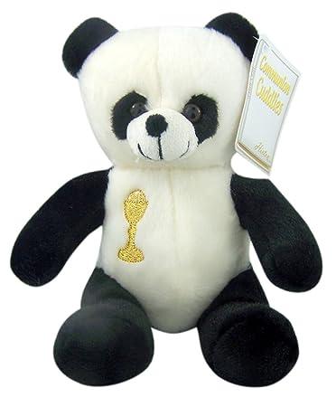 First Communion Plush Panda Bear Stuffed Animal With Embroidered