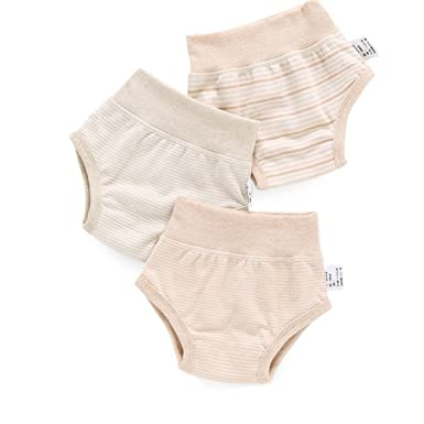 Gemini Fairy Ropa Interior bebé 3 Pack Pantalones de algodón orgánico (S)