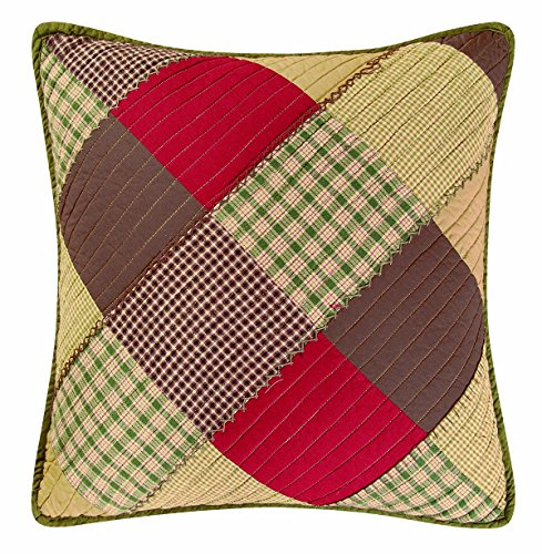 18X18 Inches Pillow, OAK RIDGE STRIPES