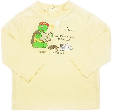 Tee shirt manches longues bébé Franklin la tortue Jaune ...