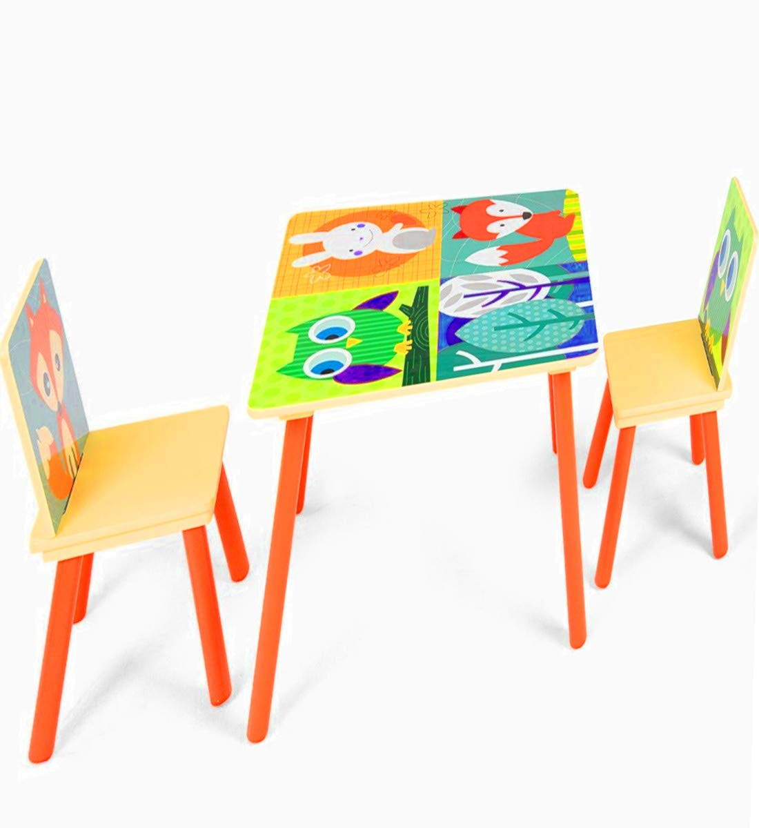 STS SUPPLIES LTD Kids Dinette Set Table Chair for Art Study Dinner Wooden Games Decor Small Kitchen Play Room Classic Desk & Ebook by AllTim3Shopping.