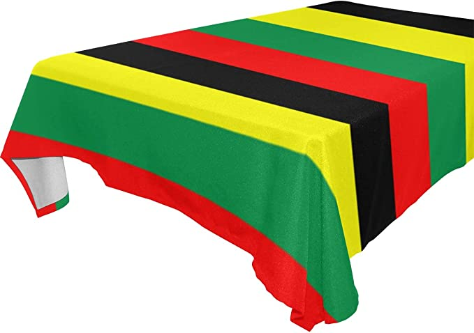 Rasta Jamaica Raggae Rectangle Table Cover Polyester Tablecloth For Weddings Banquets Restaurants 60x120 Inch Kitchen Dining Amazon Com