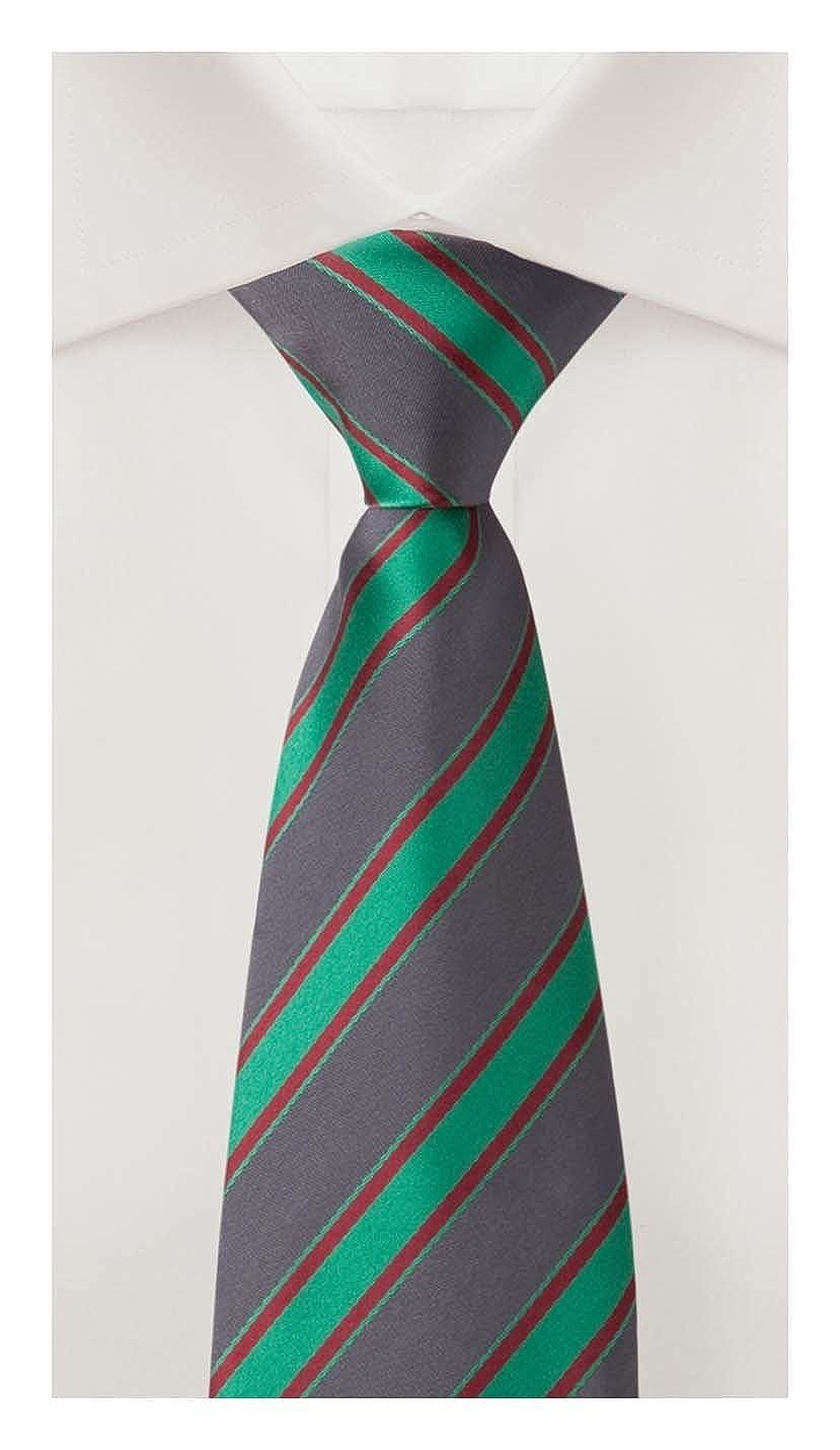 Corbata de Fabio Farini rayado en gris-verde-rojo: Amazon.es: Ropa ...